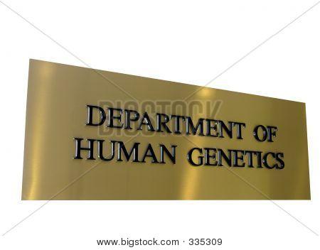 Genetics Lab Sign