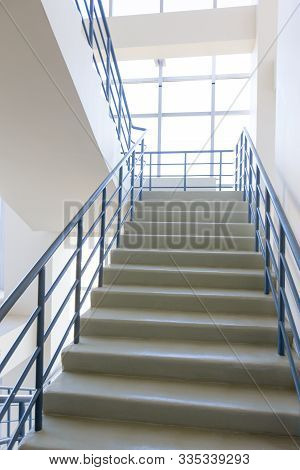 The Staircase - Emergency Exit In Hotel, Close-up Staircase, Interior Staircases, Interior Staircase