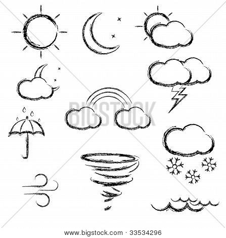 Sketch style weather icons.