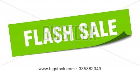 Flash Sale Sticker. Flash Sale Square Isolated Sign. Flash Sale