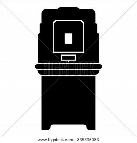 Electoral Voting Machine Electronic Evm Election Equipment Vvpat Icon Black Color Vector Illustratio