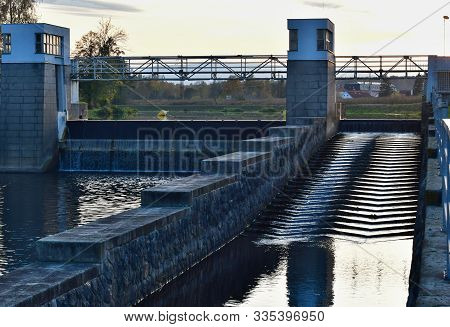 Trilcuv Dam On River Vltava, South Bohemia, Czech Republic