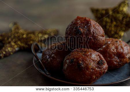 Dutch Oliebollen Or Dougnut Balls For New Years Eve