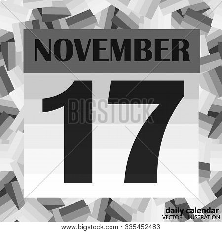November 17 Icon. For Planning Important Day. Banner For Holidays And Special Days. Seventeenth Of N