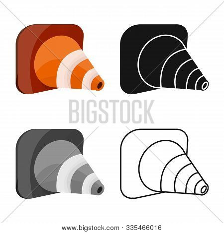 Vector Illustration Of Roadwork And Road Logo. Graphic Of Roadwork And Cone Vector Icon For Stock.