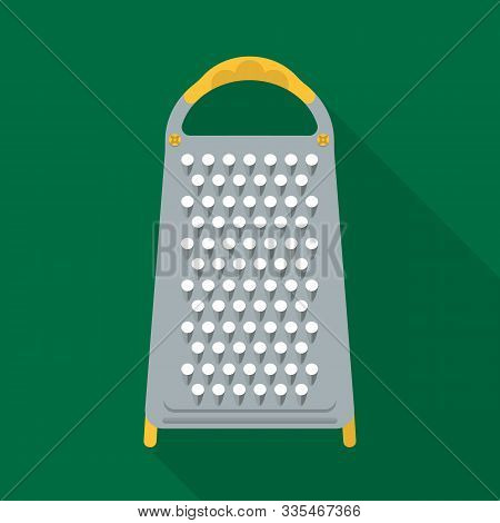 Vector Design Of Grater And Flatware Symbol. Graphic Of Grater And Instrument Stock Symbol For Web.