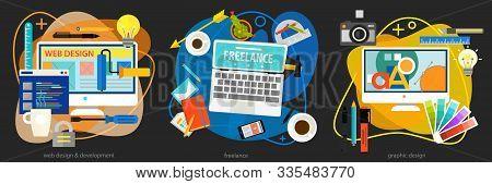 Graphic Design , Webdesign, Development And Freeance Concept