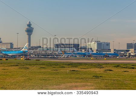 Amsterdam, Netherlands - Circa 2019 : Klm Royal Dutch Airlines Aircraft On The Ground