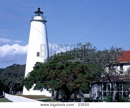 An image of the Ocracoke island lighthouse poster