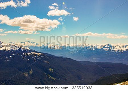 British Columbia Mountains. Beautiful British Columbia Mountains And River