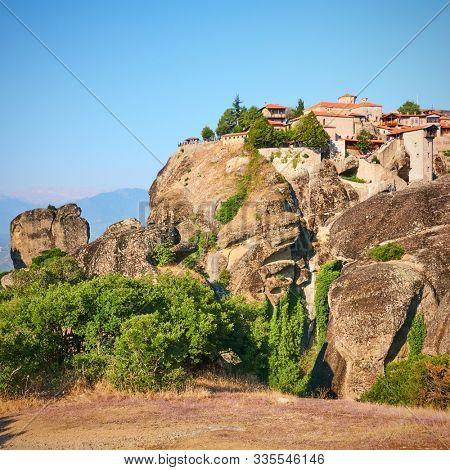 The Monastery of Great Meteoron in Meteora, Greece - Greek landmark