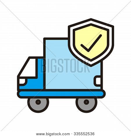Delivery Truck Icon Isolated On White Background From Insurance Collection. Delivery Truck Icon Tren