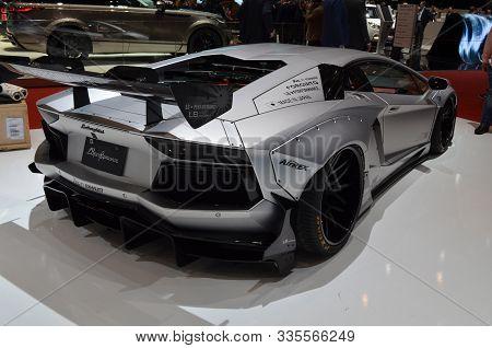 Geneva, Switzerland, March 06-2018: Lamborghini Lbperformance At Gims