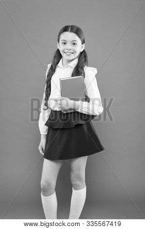 Inspiration For Study. Back To School. Knowledge Day. Possible Everything. Schoolgirl Enjoy Study. K