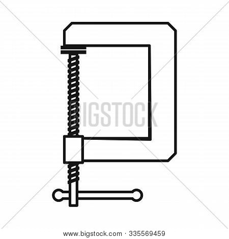 Vector Illustration Of Clamp And Screw Logo. Web Element Of Clamp And Vise Stock Vector Illustration