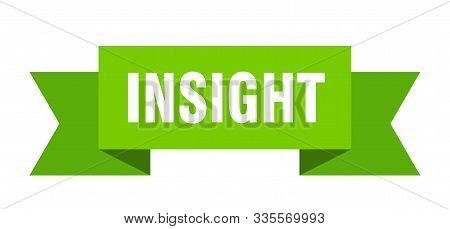 Insight Ribbon. Insight Isolated Sign. Insight Banner
