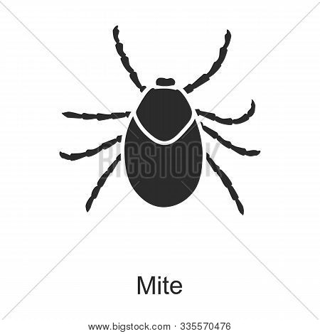 Insect Mite Vector Icon.black Vector Icon Isolated On White Background Insect Mite .