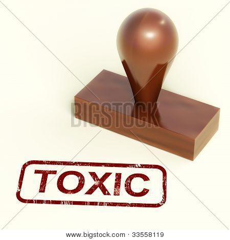 Toxic Stamp Shows Poisonous And Noxious Substances