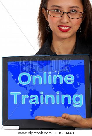 Online Training Computer Message Showing Web Learning