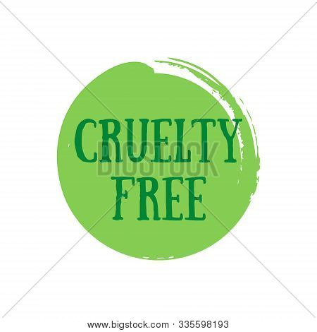 Vector Cruelty Free Badge. Sign Against Animal Testing.