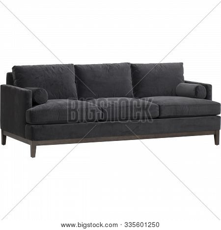 Seats Cozy Leather Sofa, 2 Seater Modern Sofa In Light Grey Fabric, 2-seat Sofa, Feather Cushion Sof