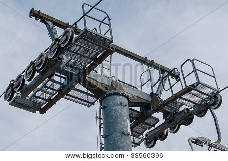 Mast Of A Chairlift