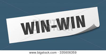 Win-win Sticker. Win-win Square Isolated Sign. Win-win