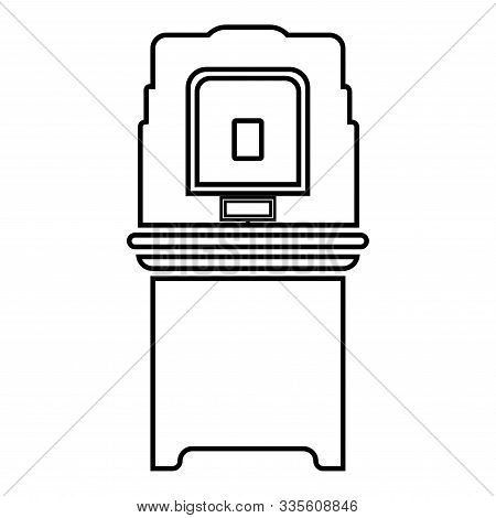 Electoral Voting Machine Electronic Evm Election Equipment Vvpat Icon Outline Black Color Vector Ill