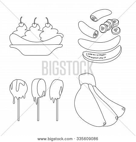 Vector Illustration Of Organic And Potassium Logo. Set Of Organic And Diet Vector Icon For Stock.