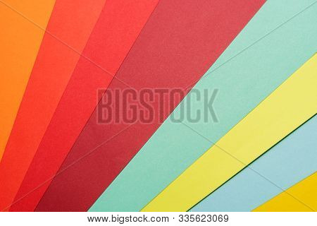 Abstract Different Pastel Colored Paper Backgrounds With Place For Text. Diagonal Geometric Composit