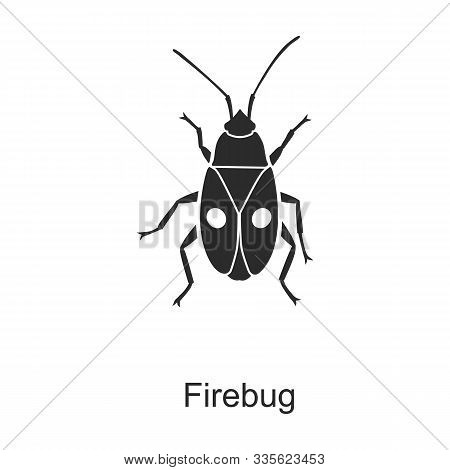 Insect Firefly Vector Icon.black Vector Icon Isolated On White Background Insect Firefly .