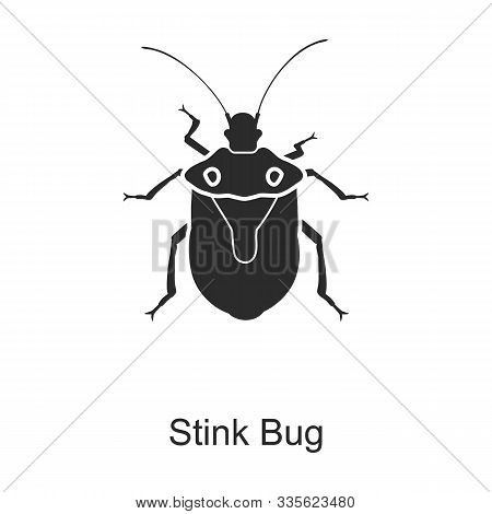 Stink Bug Vector Icon.black Vector Icon Isolated On White Background Stink Bug .