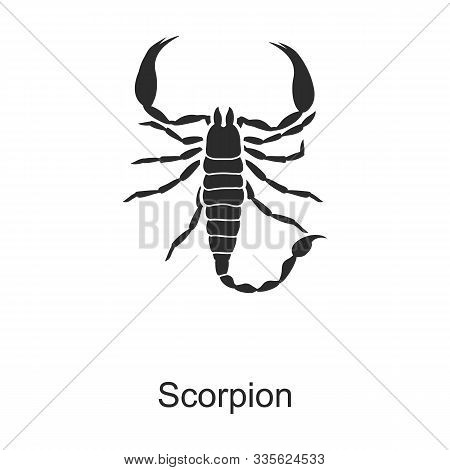 Insect Scorpion Vector Icon.black Vector Icon Isolated On White Background Insect Scorpion .