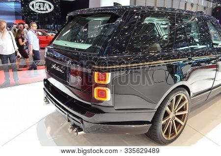 Geneva, Switzerland, March 06-2018: Range Rover Arden At Gims