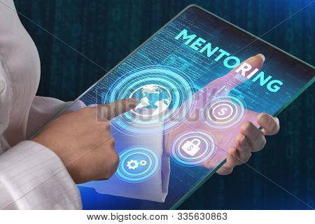 Mentoring Business  Concept. Mentor Show Virtual Label With Text Mentoring