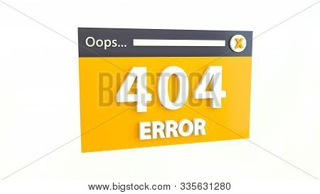 Error 404 Page Not Found Concept. Error Opening The Web Page. Website Under Construction Page