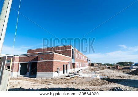 New School Building Under Construction