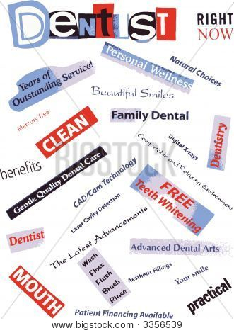 Word Collage Dentist