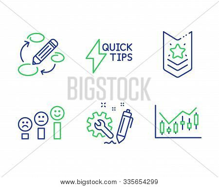 Shoulder Strap, Engineering And Quickstart Guide Line Icons Set. Keywords, Customer Satisfaction And