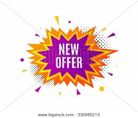 New Offer. Banner Badge, Offer Sticker. Special Price Sign. Advertising Discounts Symbol. New Offer