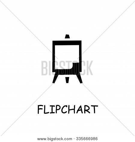 Flipchart Flat Vector Icon. Hand Drawn Style Design Illustrations.