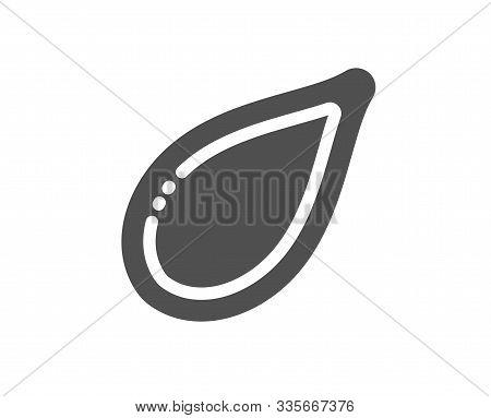 Tasty Seeds Sign. Pumpkin Seed Icon. Vegan Food Symbol. Classic Flat Style. Simple Pumpkin Seed Icon