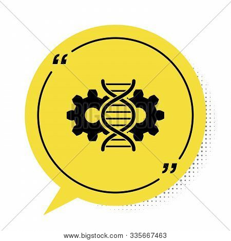 Black Gene Editing Icon Isolated On White Background. Genetic Engineering. Dna Researching, Research