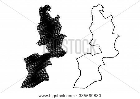 Al Buraymi Governorate (sultanate Of Oman, Governorates Of Oman) Map Vector Illustration, Scribble S