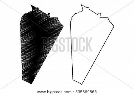 Ash Sharqiyah North Governorate (sultanate Of Oman, Governorates Of Oman) Map Vector Illustration, S