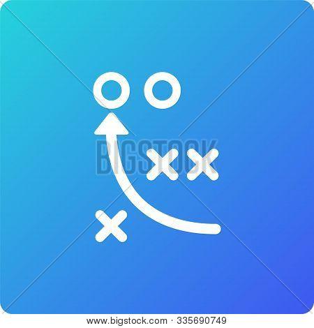 Game Tactics Vector Icon. Game Tactics Single Web Icon On Trendy Gradient