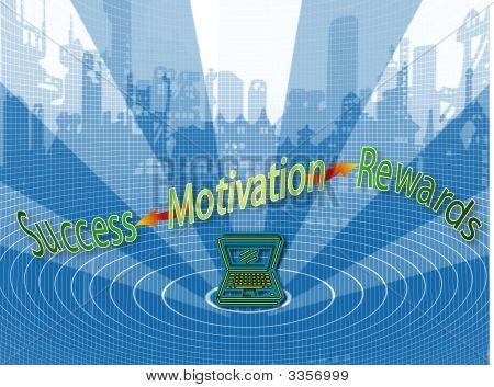 Motivation Equals Success And Rewards