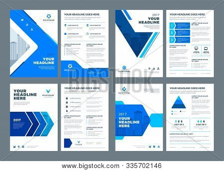 Abstract Flat Background Blue Brochures Annual Reports Covers Or Brochures Flyers Design Templates S