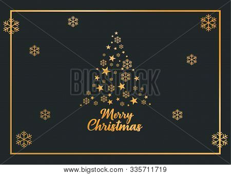 Christmas Tree, Podcast, Christmas Greeting Card, Merry Christmas, Christmas Card, Gold Card