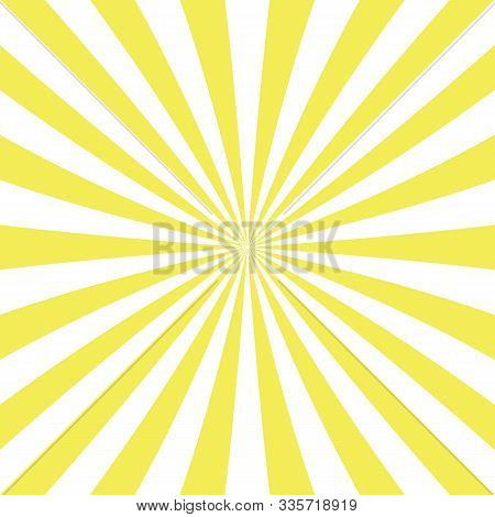 Sun Rays Of Yellow Color, Background Abstract Explosion Ray Starburst Sun